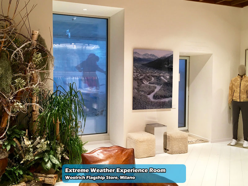 Extreme Weather Experience Room nel Woolrich Flagship Store di Milano | Foto 01