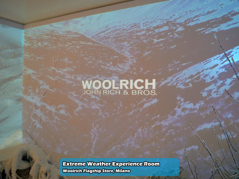 Extreme Weather Experience Room nel Woolrich Flagship Store di Milano | Foto 02
