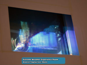 Extreme Weather Experience Room nel Woolrich Flagship Store di Milano   Foto 08