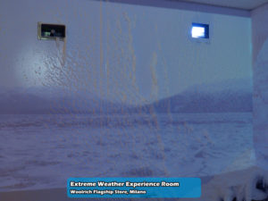 Extreme Weather Experience Room nel Woolrich Flagship Store di Milano   Foto 11