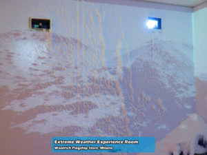 Extreme Weather Experience Room nel Woolrich Flagship Store di Milano   Foto 12